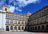 Bogota, Colombia: Colegio Mayor de San Bartolomé - secondary school, formerly a university, established by the Jesuits in 1604 - Iglesia de San Ignacio in the background - Centro Administrativo - La Candelaria - photo by M.Torres