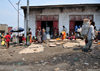 Goma, Nord-Kivu, Democratic Republic of the Congo: street market - mats with garlic - photo by M.Torres