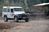 Goma, Nord-Kivu, Democratic Republic of the Congo: UN Land Rover Defender on a dirt road - peace keepers vehicle - photo by M.Torres