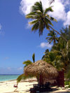 Cook Islands - Rarotonga island: sunny day on black Rock Beach - photo by B.Goode