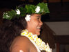 Cook Islands - Aitutaki island: island night at Pacific resort - woman with flower collar - Amuri - photo by B.Goode