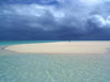 Cook Islands - Aitutaki: storm approaching over the sandbar - photo by B.Goode