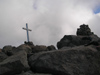 Corsica - Monte d'Oro: cross at the summit (photo by J.Kaman)