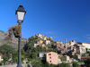 Corsica - Corte: lamp and hill (photo by J.Kaman)