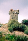 Corsica / Corse - Nonza: watch tower (photo by M.Torres)