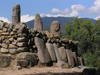 Corsica - Filitosa  (Corse du Sud): line of menhirs (photo by J.Kaman)