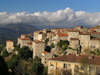 Corsica - Sartène (Corse du Sud): the town and the mountains (photo by J.Kaman)