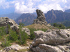 Corsica -  Bavella (Corse du Sud): mountains and rocks (photo by J.Kaman)