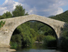 Corsica - Spin'a Cavallu (South Corsica): Horse Back Genoese bridge / pont génois (photo by J.Kaman)