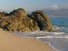 Corsica - Propriano area: on the seashore - Mediterranean sand - beach (photo by J.Kaman)