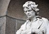 San Jos�, Costa Rica: National Theater - Teatro Nacional de Costa Rica - Plaza Juan Mora Fern�ndez - statue of Ludwig van Beethoven - photo by M.Torres