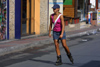 Crete - Malia (Heraklion prefecture): getting around - roller skater (photo by A.Dnieprowsky)