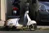 Crete - Malia (Heraklion prefecture): vespa scooter (photo by A.Dnieprowsky)