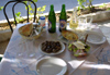 Crete - Spili: snails, salad, Zorbas beer - a Cretan lunch (photo by A.Dnieprowsky)