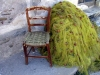 Crete - Bali / Mpali:  fishing nets and chair (photo by Alex Dnieprowsky)