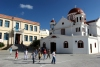 Crete - Sitia / JSH (Lassithi prefecture): church and schoolyard (photo by Alex Dnieprowsky)