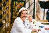 Crete - Hania: a sailor's moustache - might often have been soaked in wine, raki and coffee (photo by Alex Dnieprowsky)