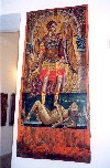 Crete - Moni Arkadiou (Rethimno prefecture): the Archangel Michael at the museum (photo by Miguel Torres)