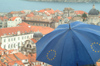Croatia - Dubrovnik: joining the EU - umbrella - photo by J.Banks