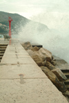 Croatia - Dubrovnik: Stormy day on Po Parela - photo by J.Banks