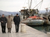 Croatia - Trogir (Splitsko-Dalmatinska Zupanija): pensioners - discussions in the harbour (photo by A.Kilroy)