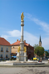 Croatia - Zagreb: St Mary's Column in Kaptol - photo by P.Gustafson