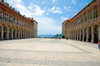 Croatia - Split: Republic square - view towards the Adriatic sea - photo by P.Gustafson