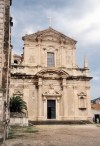Croatia - Dubrovnik: baroque church (photo by M.Torres)
