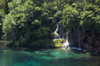 Croatia - Plitvice Lakes National Park: falls and lake - photo by P.Gustafson