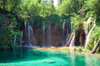 Croatia - Plitvice Lakes National Park: crescent of falls - photo by P.Gustafson