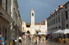 Croatia - Dubrovnik: walking on the Stradun - Placa - photo by P.Gustafson