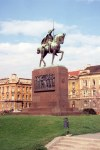 Zagreb: King Tomislav - sculpture by R. Franges-Mihanovic - photo by M.Torres
