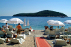 Croatia - Dubrovnik (Dubrovnik-Neretva County / Dubrovacko-Neretvanska  Zupanija): beach bar - view to Lokrum - photo by J.Banks