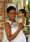 Cuba - Guardalavaca - pregnant woman and baby - photo by G.Friedman