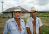 Cuba - Holguín province - two farmworkers working their land and tilling their soil - photo by G.Friedman
