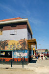 Curacao - Willemstad: Painted building, downtown Punda « - photo by S.Green