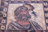 Paphos, Cyprus: Roman mosaic in the house of Dionysos - winter - bearded man - photo by A.Ferrari