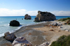 Petra Tou Romiou - Paphos district, Cyprus: beach and islets - photo by A.Ferrari