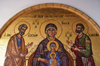 Kykkos Monastery - Troodos mountains, Nicosia district, Cyprus: Joseph, Mary and Jesus - photo by A.Ferrari