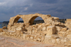 Kourion - Limassol district, Cyprus: ruins of a Roman basilica - arches - photo by A.Ferrari