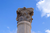 Kourion - Limassol district, Cyprus: ruins of a Roman basilica - column, Corinthian order - photo by A.Ferrari