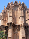 North Cyprus - Famagusta / Gazimagusa: Lala Mustafa Pasa Mosque - formerly St. Nicholas Cathedral - ruined tower (photo by Rashad Khalilov)