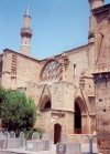 North Cyprus - Nicosia / NIC / Lefkosa: Cathedral with minarets?! - Selimiye Mosque, former Cathedral of St. Sophie (photo by Miguel Torres)