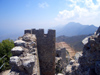 North Cyprus - Kyrenia region: St Hilarion castle - ramparts (photo by Rashad Khalilov)