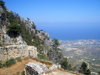 North Cyprus - Kyrenia region: St Hilarion castle - view of the coast (photo by Rashad Khalilov)