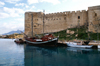 Kyrenia, North Cyprus: the castle - crusader walls and Venetian towers - photo by A.Ferrari