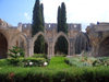 North Cyprus - Bellapais (Kyrenia province): ruins of the Abbey - garden (photo by Rashad Khalilov)