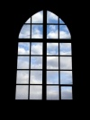 Czech Republic - Kutná Hora  (Central Bohemia - Stredoceský kraj): chapel - window and sky - photo by J.Kaman