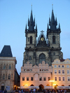Czech Republic - Prague: Old Town square and the Church of Our Lady Before Tyn - photo by J.Kaman