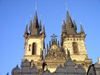 Czech Republic - Prague: towers of the Church of Our Lady before Tyn - photo by J.Kaman